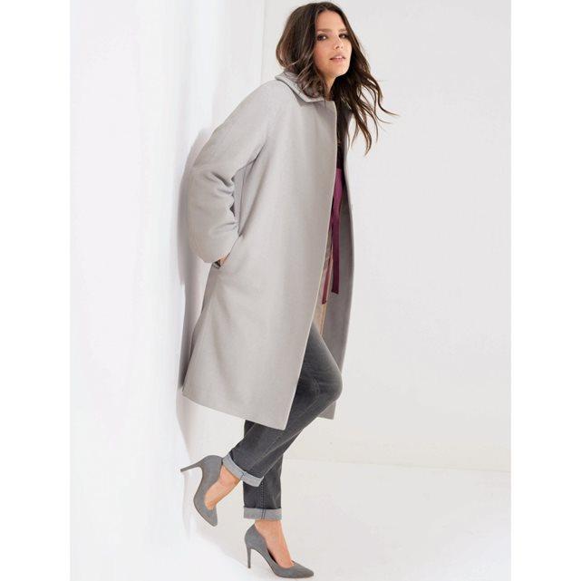 Пальто удлиненное, 80% шерсти Taillissime | купить в интернет-магазине La Redoute