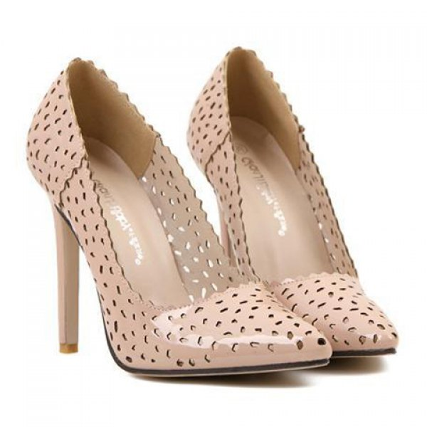 Stylish Pointed Toe and Openwork Design Women's Pumps