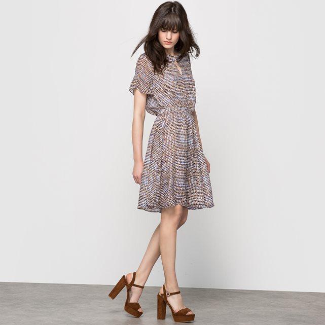 Платье с короткими рукавами, с рисунком набивной рисунок Atelier R | купить в интернет-магазине La Redoute