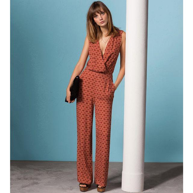 Комбинезон с брюками из струящейся ткани с рисунком набивной рисунок Atelier R | купить в интернет-магазине La Redoute